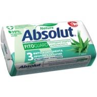 Мыло туалетное Absolut Алоэ, антибактериальное, бумажная обертка, 90г