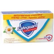 Мыло туалетное Safeguard Ромашка, антибактериальное, пленка, 75г*5шт.