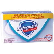 Мыло туалетное Safeguard Деликатное, антибактериальное, пленка, 75г*5шт.