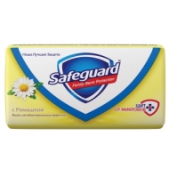 Мыло туалетное Safeguard Ромашка, антибактериальное, бумажная обертка, 90г