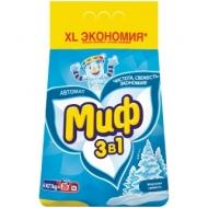Порошок для машинной стирки Миф 3в1 Морозная свежесть, 4кг