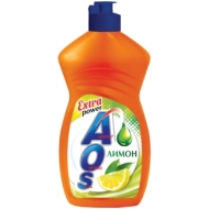 Средство для мытья посуды AOS Лимон, 450мл