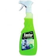 Чистящее средство Sanfor Зеленый цитрус спрей для ванн и душевых, с курком, 500мл