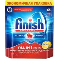 Таблетки для посудомоечной машины Finish All in 1 Max. Лимон, 65шт.