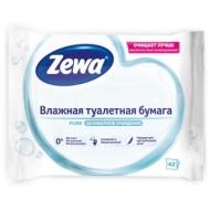 Бумага туалетная влажная Zewa Pure, 42шт./пач., без спирта, цефленовый пакет