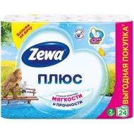 Бумага туалетная Zewa Плюс, 2-слойная, 24шт., тиснение, белая