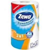 Полотенца бумажные в рулоне Zewa 2в1, 2-слойное, 28м/рул, тиснение, белые