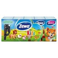 Платки бумажные носовые Zewa Kids, детские, 10 пачек по 10шт.