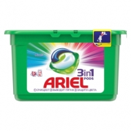 Капсулы для машинной стирки Ariel Color, 3в1 Pods, 12шт.*27г