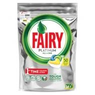 Капсулы для посудомоечной машины Fairy Platinum. All in 1. Лимон, 50шт. (ПОД ЗАКАЗ)