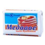 Мыло туалетное Невская Косметика Медовое, бумажная обертка, 90г