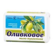 Мыло туалетное Невская Косметика Оливковое, бумажная обертка, 90г