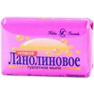 Мыло туалетное Невская Косметика Новое Ланолиновое, бумажная обертка, 90г