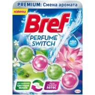 Подвесной блок для унитаза Bref Perfume Switch. Яблоня-лотос, 50г, блистер