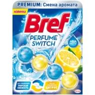 Подвесной блок для унитаза Bref Perfume Switch. Освежающий цитрус, 50г, блистер