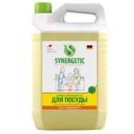 Средство для мытья посуды, фруктов, игрушек Synergetic Лимон, антибакт., концентрат, канистра, 5л