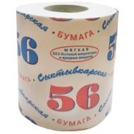 Бумага туалетная Сыктывкарская 56, 1 слойн., белая