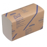 Полотенца бумажные лист. Kimberly-Clark Scott, (S-сл), 1-слойные, 250л/пач, 24*20, белые