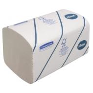 Полотенца бумажные лист. Kimberly-Clark Kleenex, (S-сл), 2-слойные, 186л/пач, 21*21,5, белые