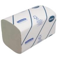 Полотенца бумажные лист. Kimberly-Clark Kleenex, (S-сл), 2-слойные, 124л/пач, 21,5*31,5, белые