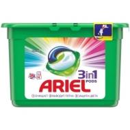 Капсулы для машинной стирки Ariel Color, 3в1 Pods, 15шт.*27г