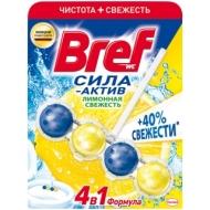 Подвесной блок для унитаза Bref Сила-Актив, лимонная свежесть, 50г, блистер