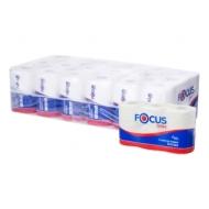 Бумага туалетная Focus Extra, 2 слойн, мини-рулон, 48 м/рул, 6шт., тиснение, белая