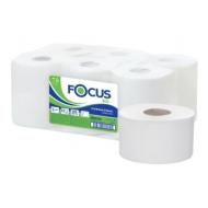 Бумага туалетная Focus Eco Jumbo, 1 слойн, 200 м/рул, тиснение, белая