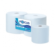 Протирочное индустриал. полотенце для рук в рулоне Focus Jumbo 2-слойная, 350м/рул, 24*35см, голубой