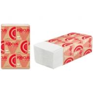 Полотенца бумажные лист Focus Premium (V-сл), 2 слойн., 200 л/пач, 23*20, 5см, белые