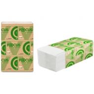 Полотенца бумажные лист Focus Eco (V-сл), 1 слойн., 250 л/пач, 23*20,5см, белые