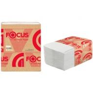 Бумага туалетная листовая Focus Premium(V-сл) 2-слойная, 250 лист/пач, 23*10,8 см, белая
