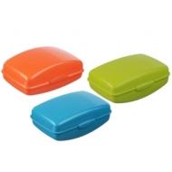 Мыльница дорожная Idea, 10*4,4*6,8см, пластик, цвет микс (разноцветный)