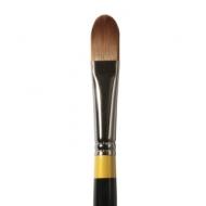 Кисть Daler Rowney System 3 жесткая синтетика, кошачий язык, длинная ручка