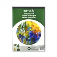 Бумага Reeves для рисования акриловыми красками, 190г/м2, A4, альбом-склейка, 15 листов