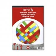 Набор цветной бумаги для рисования и творчества Reeves, 120г/м2, A4, склейка 20 листов