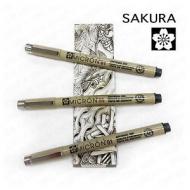 Набор капиллярных ручек-линеров Sakura Pigma Micron Zentangle, черные, 3 шт. от 0.25 до 0.45мм