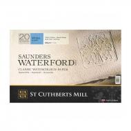 "Блок акварельной бумаги ""Saunders Waterford CP"" ST CUTHBERTS MILL LTD, 300 г/м. кв, 31х41 см, 20 листов"