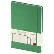 Бизнес-Блокнот А5, 100 л., твердая обложка, балакрон, на резинке, BV, Зеленый, 3-101/03