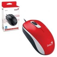 Мышь проводная Genius DX-110, USB, 2 кнопки + 1 колесо-кнопка, оптическая, красная, 31010116104