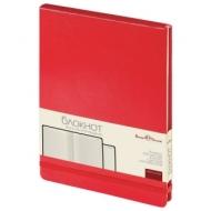 Бизнес-Блокнот А5, 100 л., твердая обложка, балакрон, открытие вверх, Bruno Visconti, Красный, 3-103/04