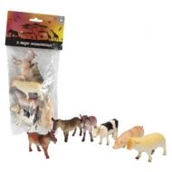 Набор фигурок В мире животных, Ферма, 6 шт., 8,75 см, 1TOY, Т50553