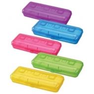 Пенал Стамм пластиковый, разные цвета, ПН16