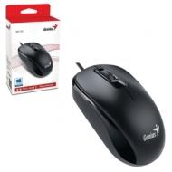 Мышь проводная Genius DX-110, USB, 2 кнопки + 1 колесо-кнопка, оптическая, чёрная, 31010116100