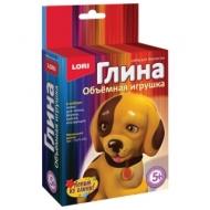 Набор для изготовления игрушки из глины Маленький щенок, глина, формы, краски, LORI, Пз/Гл-003