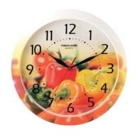 Часы настенные Troyka 11000022, круг, с рисунком Болгарский перец, рамка в цвет корпуса, 29x29x3,5 см