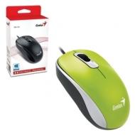 Мышь проводная Genius DX-110, USB, 2 кнопки + 1 колесо-кнопка, оптическая, зелёная, 31010116105