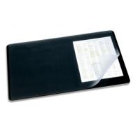Коврик-подкладка настольный для письма (530х400 мм), c прозрачным листом, черный, DURABLE (Германия), 7202-01