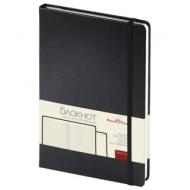 Бизнес-Блокнот А5, 100 л., твердая обложка, балакрон, на резинке, BV, Черный, 3-101/02