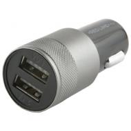 Зарядное устройство Автомобильное, Red line C20, кабель microUSB 1 м, 2 порта USB, выходной ток 2,1 А, черное, УТ000012249
